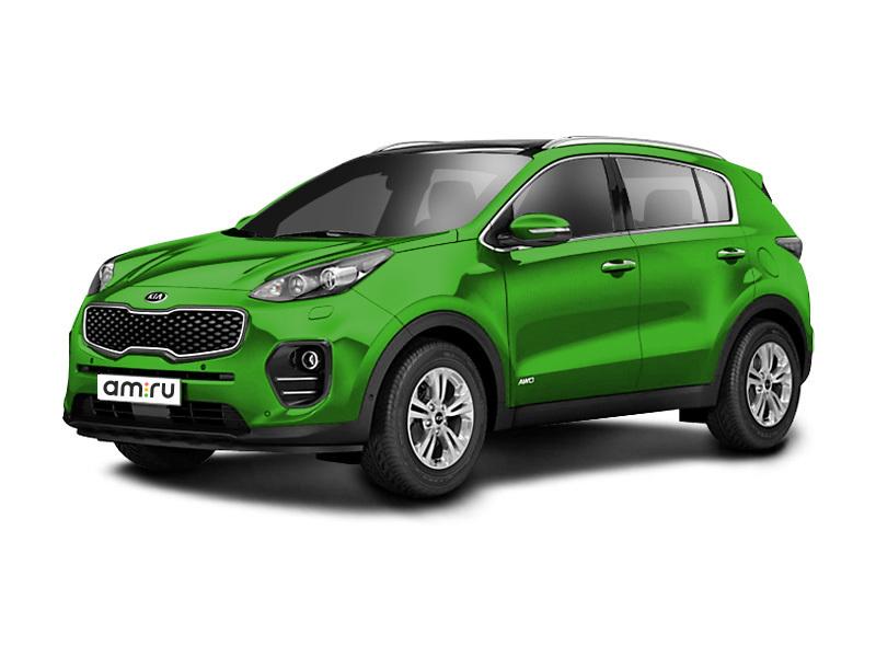 Новый авто Kia Sportage, зеленый металлик, 2017 года выпуска, цена 1 524 900 руб. в автосалоне Псков Авто (Псков, проезд Гаражный, д. 8)
