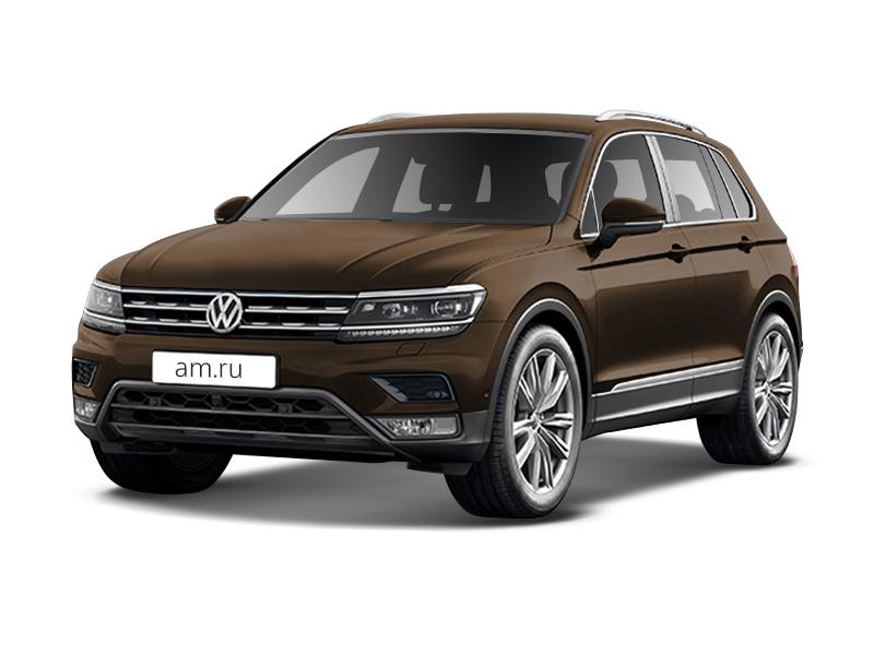 Новый авто Volkswagen Tiguan, коричневый металлик, 2017 года выпуска, цена 2 031 600 руб. в автосалоне  ()