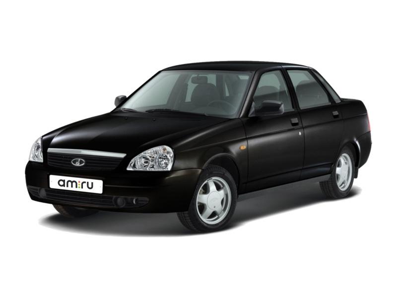 Подержанный ВАЗ (Lada) Priora, хорошее состояние, черный , 2007 года выпуска, цена 165 000 руб. в Ульяновске