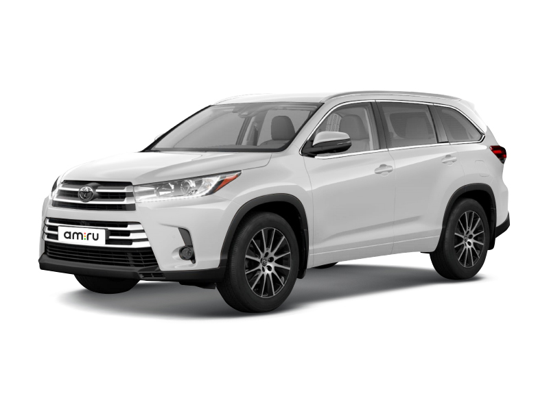 Новый авто Toyota Highlander, белый металлик, 2017 года выпуска, цена 3 802 000 руб. в автосалоне Тойота Центр Оренбург (Оренбург, ш. Загородное, д. 13)