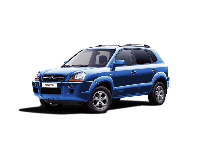 Подержанный Hyundai Tucson, отличное состояние, голубой металлик, 2006 года выпуска, цена 485 000 руб. в Тверской области
