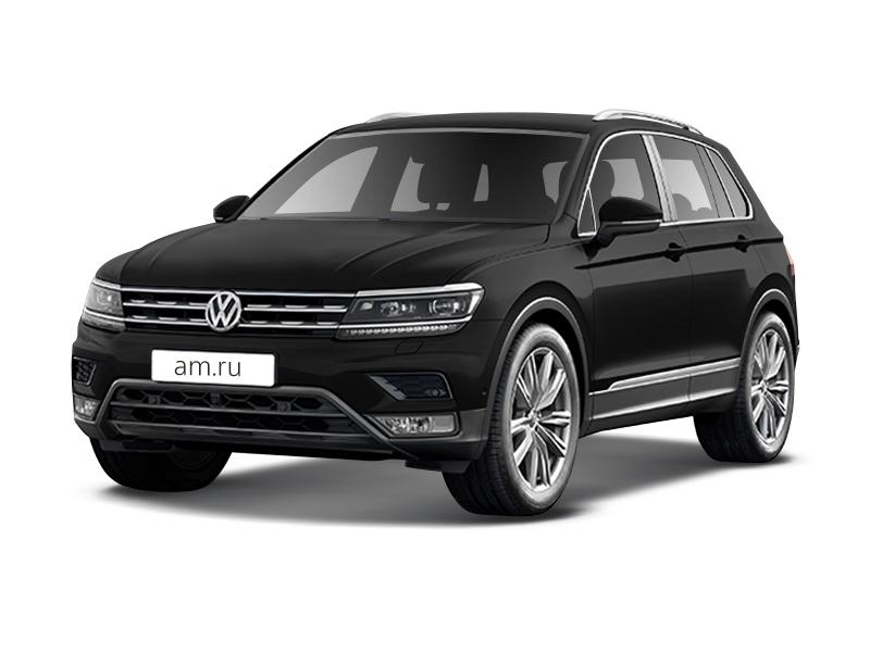 Новый авто Volkswagen Tiguan, черный металлик, 2017 года выпуска, цена 1 873 500 руб. в автосалоне ИнтерАвто (Рязань, ш. Московское, д. 24А)