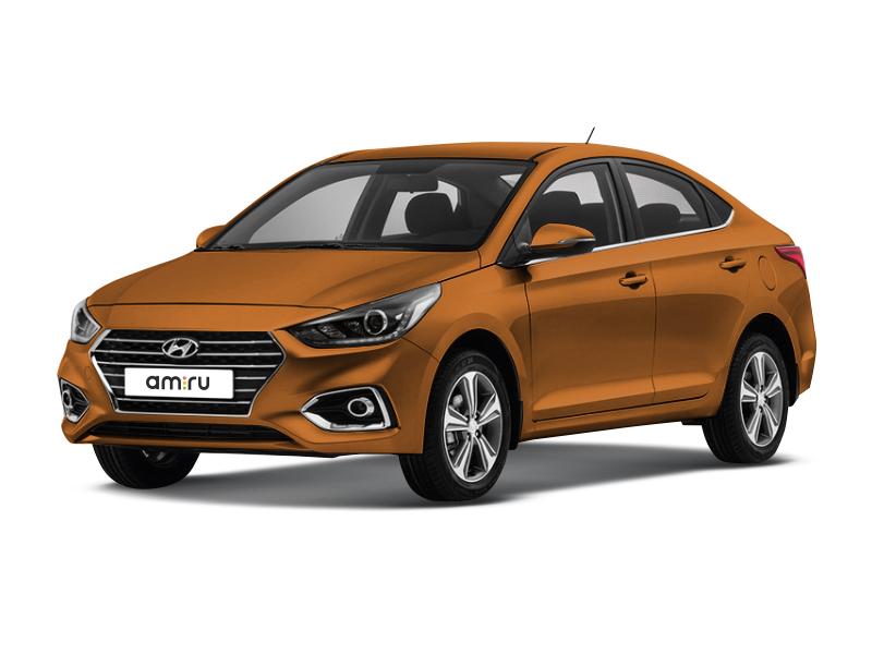 Новый авто Hyundai Solaris, оранжевый , 2017 года выпуска, цена 849 900 руб. в автосалоне Евразия плюс (Омск, ул. Димитрова, д. 75)