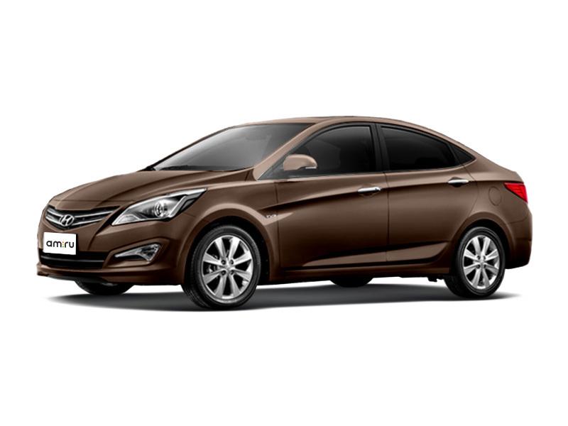 Новый авто Hyundai Solaris, коричневый перламутр, 2016 года выпуска, цена 715 000 руб. в автосалоне  ()