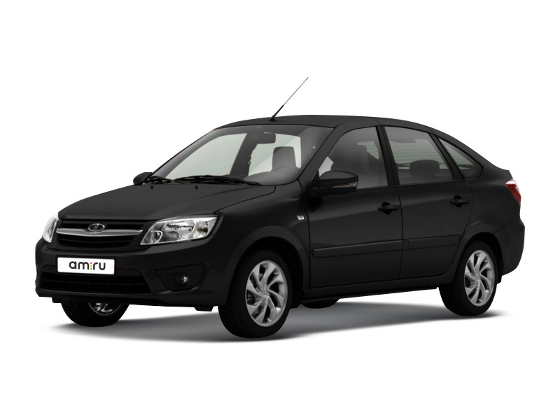 Новый авто ВАЗ (Lada) Granta, черный металлик, 2017 года выпуска, цена 440 600 руб. в автосалоне  ()