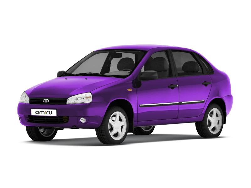 Подержанный ВАЗ (Lada) Kalina, отличное состояние, фиолетовый , 2009 года выпуска, цена 150 000 руб. в республике Татарстане