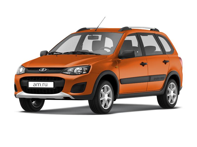 Новый авто ВАЗ (Lada) Kalina, оранжевый металлик, 2017 года выпуска, цена 550 000 руб. в автосалоне  ()