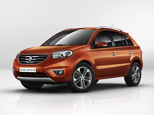 Фото автомобиля Renault Koleos 1 поколение [рестайлинг], ракурс: 45 цвет: оранжевый
