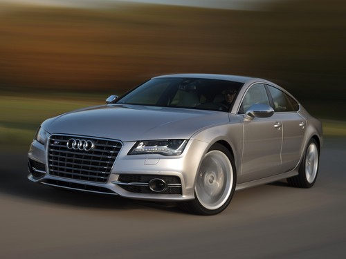 Фото автомобиля Audi S7 4G, ракурс: 45 цвет: серый