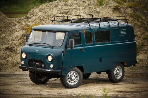 Фото автомобиля УАЗ 452 2 поколение, ракурс: 45 цвет: синий