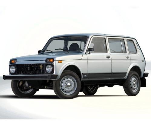 Фото автомобиля ВАЗ (Lada) 4x4 1 поколение [рестайлинг], ракурс: 45 цвет: серебряный