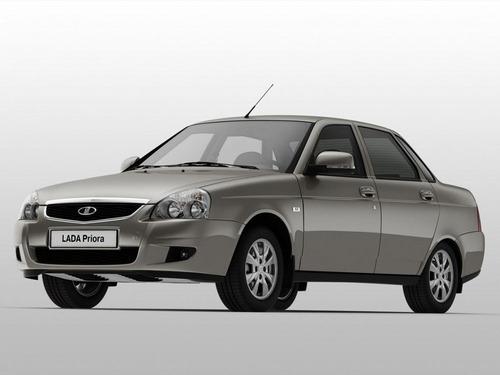 Фото автомобиля ВАЗ (Lada) Priora 1 поколение [рестайлинг], ракурс: 45 цвет: серый