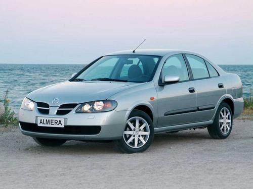 Фото автомобиля Nissan Almera N16 [рестайлинг], ракурс: 45 цвет: серебряный
