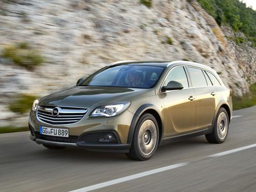 Фото автомобиля Opel Insignia A [рестайлинг], ракурс: 45 цвет: бежевый