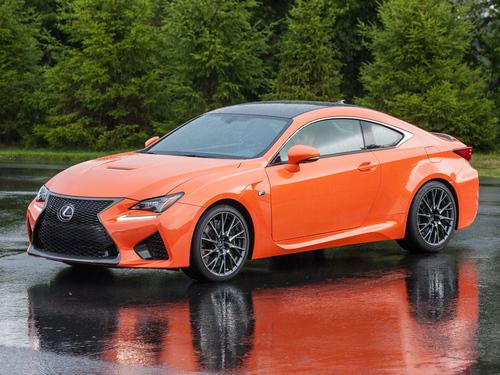 Фото автомобиля Lexus RC 1 поколение, ракурс: 45 цвет: оранжевый