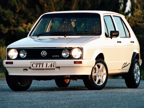 Фото автомобиля Volkswagen Citi Golf 1 поколение [рестайлинг], ракурс: 45