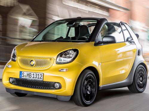 Фото автомобиля Smart Fortwo 3 поколение, ракурс: 45 цвет: желтый