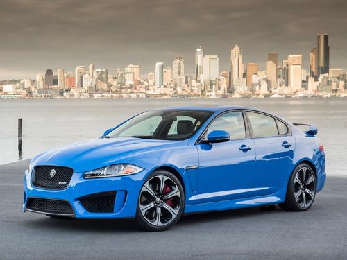Фото автомобиля Jaguar XF X250 [рестайлинг], ракурс: 45 цвет: синий