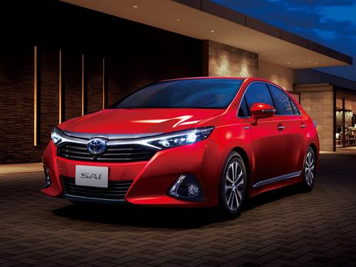 Фото автомобиля Toyota Sai 1 поколение [рестайлинг], ракурс: 45 цвет: красный