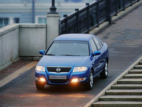 Фото автомобиля Nissan Almera Classic B10, ракурс: 45 цвет: синий