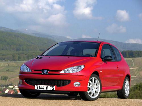 Фото автомобиля Peugeot 206 1 поколение [рестайлинг], ракурс: 45 цвет: красный