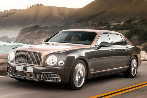 Фото автомобиля Bentley Mulsanne 2 поколение [рестайлинг], ракурс: 45 цвет: серый