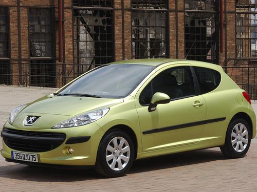 Фото автомобиля Peugeot 207 1 поколение, ракурс: 45 цвет: салатовый