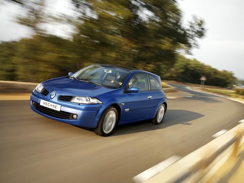 Фото автомобиля Renault Megane 2 поколение [рестайлинг], ракурс: 45 цвет: синий