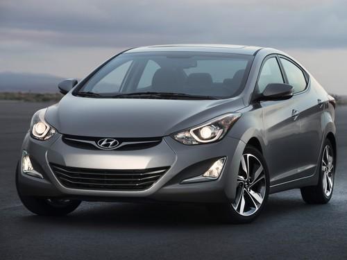 Фото автомобиля Hyundai Elantra MD [рестайлинг], ракурс: 45 цвет: серый