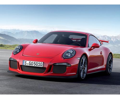 Фото автомобиля Porsche 911 991, ракурс: 45 цвет: красный
