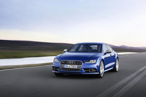 Фото автомобиля Audi S7 4G [рестайлинг], ракурс: 45 цвет: синий