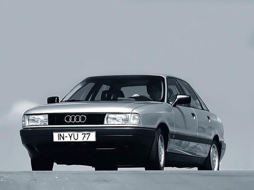 Фото автомобиля Audi 80 8A/B3, ракурс: 45 цвет: серебряный