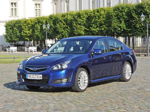 Фото автомобиля Subaru Legacy 5 поколение, ракурс: 45 цвет: синий