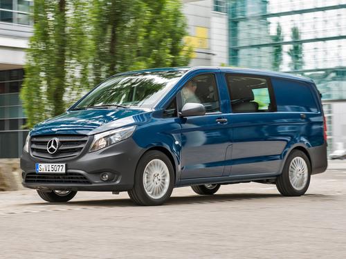 Фото автомобиля Mercedes-Benz Vito W447, ракурс: 45 цвет: синий