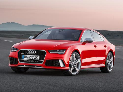 Фото автомобиля Audi RS 7 4G [рестайлинг], ракурс: 45 цвет: красный
