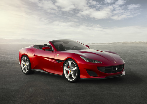 Фото автомобиля Ferrari Portofino 1 поколение, ракурс: 315 цвет: красный