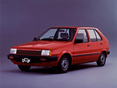 Фото автомобиля Nissan March K10, ракурс: 45 цвет: красный