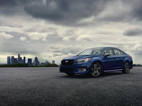 Фото автомобиля Subaru Legacy 6 поколение [рестайлинг], ракурс: 45 цвет: синий