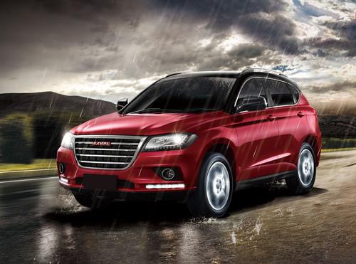 Фото автомобиля Haval H2 1 поколение, ракурс: 45 цвет: красный