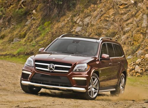Фото автомобиля Mercedes-Benz GL-Класс X166, ракурс: 45 цвет: коричневый