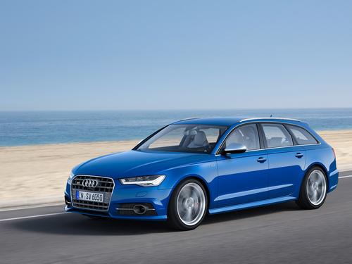 Фото автомобиля Audi S6 C7 [рестайлинг], ракурс: 45 цвет: голубой