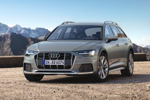 Фото автомобиля Audi A6 C8, ракурс: 45 цвет: серый