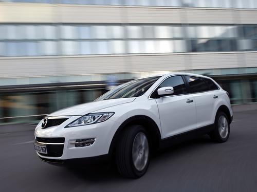 Фото автомобиля Mazda CX-9 1 поколение, ракурс: 45 цвет: белый