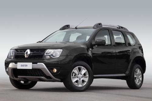 Фото автомобиля Renault Duster 1 поколение [рестайлинг], ракурс: 45 цвет: черный