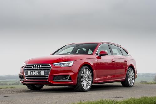 Фото автомобиля Audi A4 B9, ракурс: 45 цвет: красный
