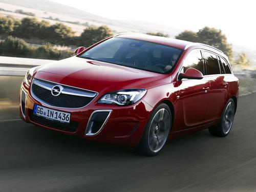 Фото автомобиля Opel Insignia A [рестайлинг], ракурс: 45 цвет: красный