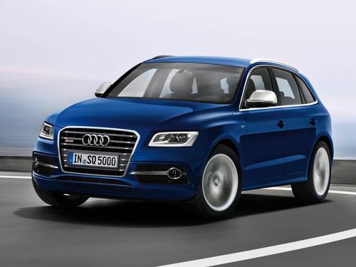 Фото автомобиля Audi SQ5 8R, ракурс: 45 цвет: синий