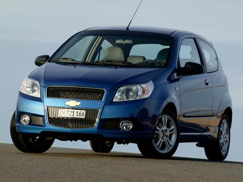 Фото автомобиля Chevrolet Aveo T250 [рестайлинг], ракурс: 45 цвет: синий