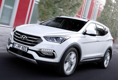 Фото автомобиля Hyundai Santa Fe DM [рестайлинг], ракурс: 45 цвет: белый