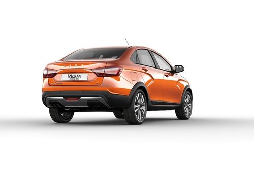 Фото автомобиля ВАЗ (Lada) Vesta 1 поколение, ракурс: 225 - рендер цвет: оранжевый